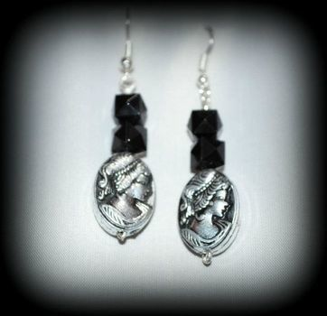 .. .  Make a pair of cameo earrings in under 90 minutes using imagination. Inspired by gothic and vintage & retro. Creation posted by Demonymphetamine. Difficulty: Simple. Cost: Absolutley free.