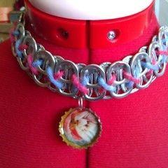 Soda Tab Necklaces With Bottle Cap Pendants