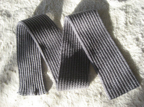 Simple Beginner Knitting Project .  Free tutorial with pictures on how to stitch a rib stitch scarf in 1 step by knitting with yarn and knitting needles. How To posted by Heather S. Difficulty: Simple. Cost: Cheap.