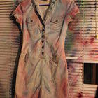 Ombre Dyed Trench Dress