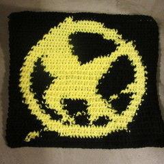 Crochet Hunger Games Pin Square