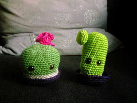 Ah, ah, ah! .  Make a plant plushie in under 60 minutes by crocheting and amigurumi with yarn, fiberfill, and crochet needle. Inspired by monsters, kawaii, and toys. Creation posted by Hissyfits ///_^. Difficulty: 3/5. Cost: Absolutley free.