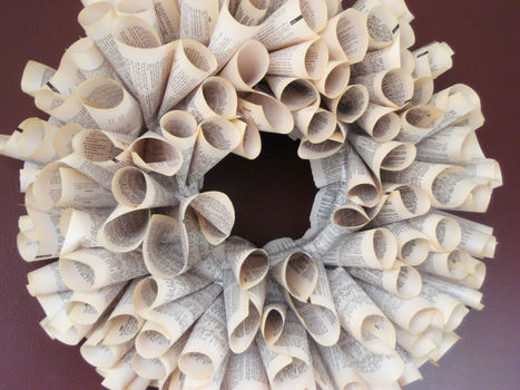 .  Make a paper wreath in under 60 minutes by papercrafting Version posted by Heather S. Difficulty: Easy. Cost: Absolutley free.
