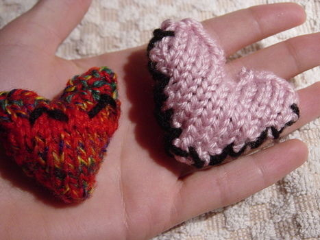 A quick knit for your valentine :) .  Make a shape plushie in under 10 minutes by knitting with yarn. Inspired by valentine's day, hearts, and hearts. Creation posted by sweetsundae0. Difficulty: Simple. Cost: No cost.