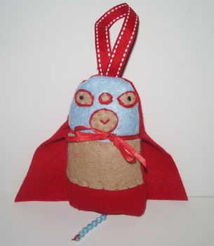 Nacho typical Dotee Doll .  Make a food plushie in under 90 minutes by beading, embroidering, and sewing with felt, beads, and ribbon. Inspired by domo kun, domo kun, and people. Creation posted by kiddo. Difficulty: Simple. Cost: Cheap.