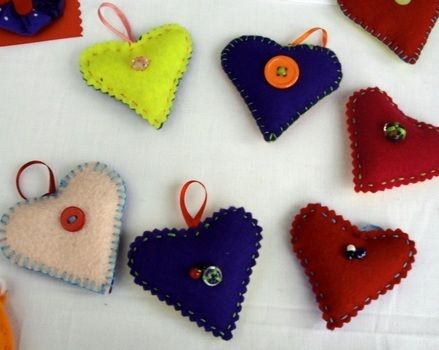 A beautiful handmade gift for your loved one or yourself  .  Make a shape plushie in under 120 minutes by sewing with felt, beads, and ribbon. Inspired by hearts. Creation posted by Jean M. Difficulty: Simple. Cost: Cheap.
