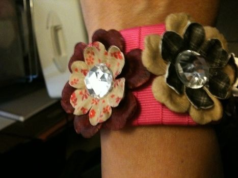 Gorgeous Cuff made from a 2 ltr empty bottle .  Make a bottle cuff in under 60 minutes by jewelrymaking with scissors, ribbon, and hot glue gun. Inspired by clothes & accessories. Creation posted by Bohemian Tragedeez. Difficulty: Easy. Cost: Absolutley free.