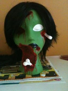 """Means """"Soul"""" .  Create art / a model in under 150 minutes by drawing, hairstyling, applying makeup, and decorating with acrylic paint, hot glue gun, and polymer clay. Creation posted by Tristahx.  in the Decorating section Difficulty: 4/5. Cost: 4/5."""