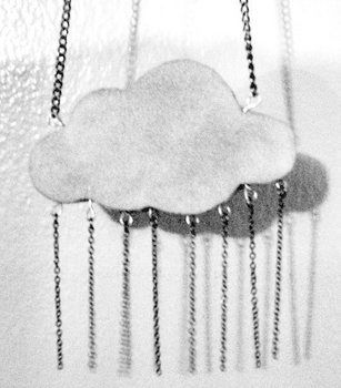 Medium rain cloud bw