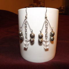 D.I.Y. Chandelier Earrings From Safety Pins!