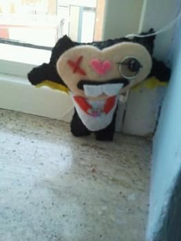 Muhahahah .  Make a food plushie in under 60 minutes by needleworking with felt. Inspired by domo kun, domo kun, and monsters. Creation posted by ~-*animelover~-*. Difficulty: Simple. Cost: Absolutley free.