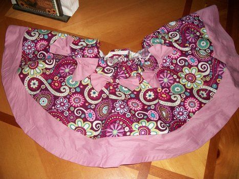 Simple, yet adorable! .  Embellish a bow skirt by decorating, fusing, sewing, dressmaking, and paper folding with fabric and thread. Inspired by clothes & accessories. Creation posted by Mellieanne. Difficulty: Simple. Cost: Cheap.