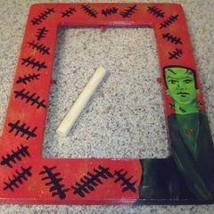 Hand Painted Frankenstein Frame