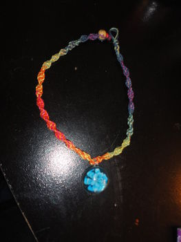 Cute and easy hemp necklace .  Make a hemp necklace in under 60 minutes by beading, jewelrymaking, and weaving with glass beads, hemp, and bead. Creation posted by Sara. Difficulty: Simple. Cost: Cheap.