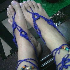 Violet Barefoot Crochet