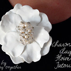 Charming Clay Flower Brooch