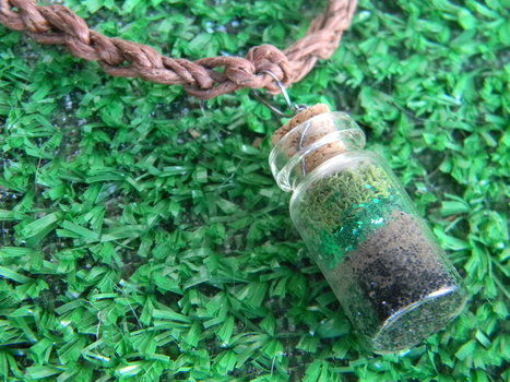 Wear the magic of a fairy forest around your neck .  Make a vial in under 10 minutes by gardening, jewelrymaking, and knotting with wire, glitter, and glitter. Inspired by clothes & accessories. Creation posted by Ariel Greenwood. Difficulty: Easy. Cost: Absolutley free.