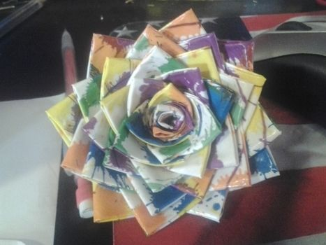 .  Make a duct tape model in under 13 minutes by constructing and paper folding Inspired by flowers and roses. Version posted by Krista B. Difficulty: Easy. Cost: Absolutley free.