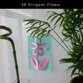 3D kirigami that anyone can make! .  Free tutorial with pictures on how to make a cut out card in under 10 minutes by papercrafting, cardmaking, and scrapbooking with scissors, paper, and pencil. Inspired by kawaii and flowers. How To posted by Miho S. Difficulty: Simple. Cost: Cheap. Steps: 5