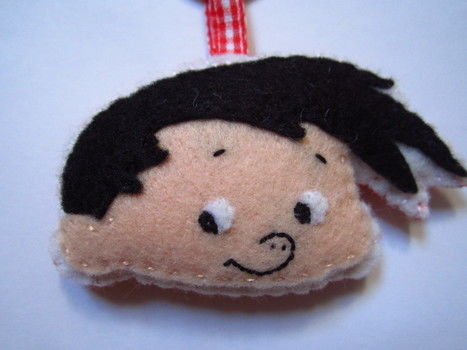 Felt keychain featuring Bobby .  Sew a fabric character charm in under 50 minutes using felt, embroidery floss, and key ring. Creation posted by Tabby. Difficulty: 3/5. Cost: Cheap.