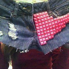 Destroyed/Studded Shorts