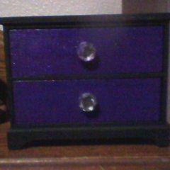 Black And Purple Jewerly Box