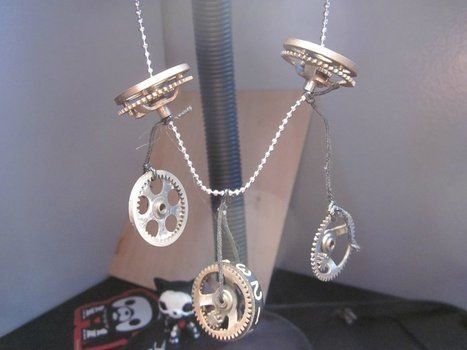 Yay! steam punk! .  Make a recycled necklace in under 10 minutes using cog. Creation posted by Cutie Mark Crusader. Difficulty: Easy. Cost: No cost.