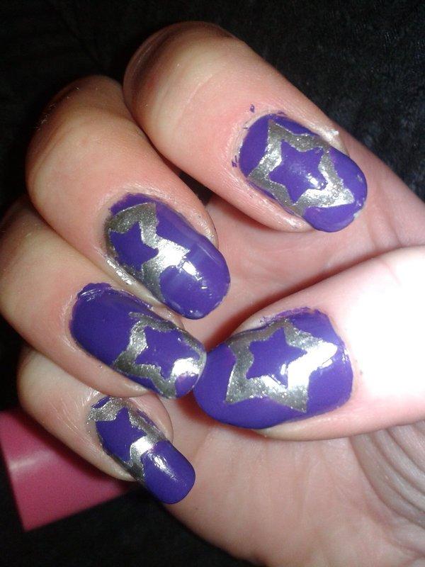 Star Nail Art · Patterned Nail Art · Nail Painting On Cut