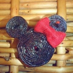 Up Cycled Minnie Mouse Magazine Pendant