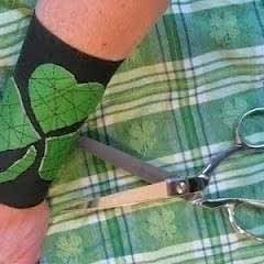 Recycled Leather Shamrock St. Patrick's Day Cuff