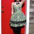 Lime Green Leopard Dress