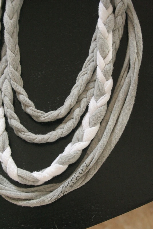 Braided T Shirt Necklace 183 A Braided Fabric Necklace 183 Braiding On Cut Out Keep