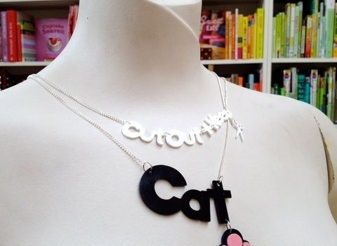 Use your Cricut cutting machine to make a quick and easy name necklace! .  Free tutorial with pictures on how to make a shrink plastic pendant in under 20 minutes by jewelrymaking and melting with jump rings, clasps, and shrink plastic. Inspired by cut out + keep. How To posted by Cat Morley. Difficulty: Simple. Cost: Cheap. Steps: 10