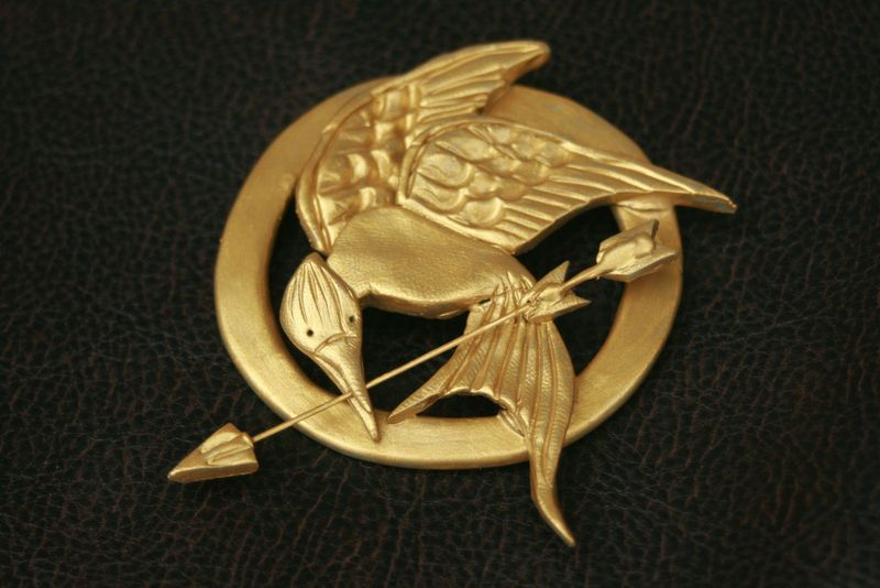 Mockingjay Pin 183 A Clay Brooch 183 Molding On Cut Out Keep