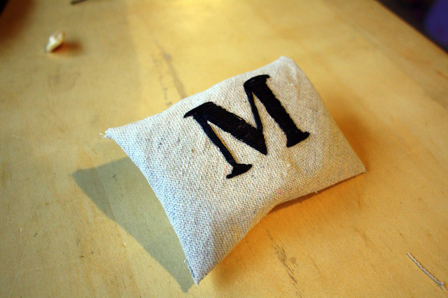 Diy embroidered monogram · how to embroider embroidery