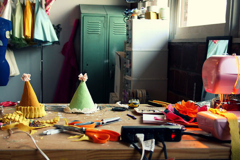 Making handmade felt birthday hats .  Free tutorial with pictures on how to make a party hat in under 40 minutes by decorating with felt, ribbon, and embellishments. How To posted by Princess Lasertron. Difficulty: Simple. Cost: Cheap. Steps: 12