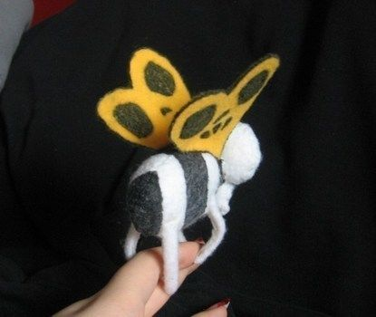 Beware Adventure Time Fans! .  Make a butterfly plushie by sewing, decorating, and dressmaking with felt, wire, and fabric paint. Inspired by creatures, gothic, and tim burton. Creation posted by DarkAshHurts. Difficulty: Simple. Cost: Absolutley free.