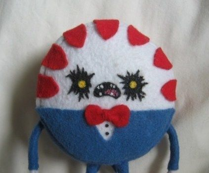 Adventure Time!! .  Make a candy plushie by molding, sewing, decorating, and dressmaking with felt, wire, and hot glue gun. Inspired by creatures, gothic, and kawaii. Creation posted by DarkAshHurts. Difficulty: 3/5. Cost: Cheap.