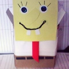 Cardboad Box Spongebob