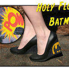 Flocked Batman Wedges
