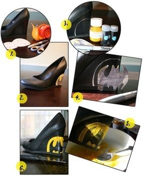 Flocking and Glitter are a Dynamic Duo!  .  Free tutorial with pictures on how to make a shoe in 5 steps by drawing, decorating, and embellishing with glitter, pattern, and mod podge. Inspired by batman, costumes & cosplay, and clothes & accessories. How To posted by kendralaw. Difficulty: Simple. Cost: Cheap.