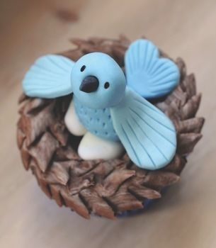 Crafty Cupcakes .  Free tutorial with pictures on how to decorate an animal cake in under 30 minutes by cooking, baking, decorating food, and cake decorating with cutters, cutters, and royal icing. Inspired by birds, birds, and bird nests. Recipe posted by GMC Group. Difficulty: Simple. Cost: Cheap. Steps: 10