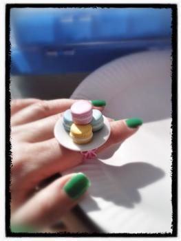 Something sweet to keep on your finger .  Make a clay ring in under 60 minutes by jewelrymaking with polymer clay and ring base. Creation posted by Zombiella x. Difficulty: Easy. Cost: 3/5.