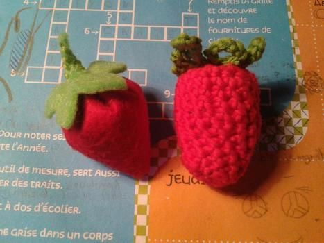 Felt and crochet .  Make a fruit plushie in under 40 minutes by needleworking with felt. Inspired by kawaii, strawberries, and strawberries. Creation posted by Horkidelo. Difficulty: Easy. Cost: No cost.