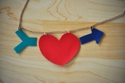 A sweet way to restyle a vintage necklace .  Free tutorial with pictures on how to make a leather necklace in under 30 minutes by jewelrymaking with jump rings, fabric scissors, and leather. How To posted by Melanie Busby. Difficulty: Easy. Cost: 3/5. Steps: 5