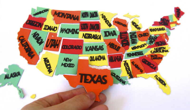 50 States Magnets  How To Make A Paper Magnet  Papercraft on Cut