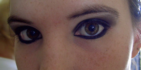 My everyday, plain and very dark makeup. (seriously, I would wear my makeup to school) .  Free tutorial with pictures on how to create an animal print eye makeup look in under 15 minutes by applying makeup and applying makeup with eyeshadow, eyeshadow, and mascara. Inspired by gothic. How To posted by Raven Beauty . Difficulty: 3/5. Cost: No cost. Steps: 5