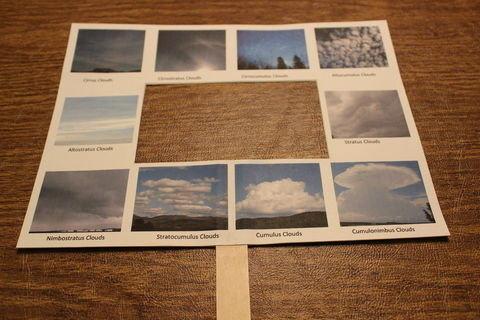 A fun way to teach children about cloud formations. .  Photograph a sky photograph in under 5 minutes by creating and papercrafting with cardstock, glue stick, and printer. Creation posted by Brenda W. Difficulty: Easy. Cost: Absolutley free.