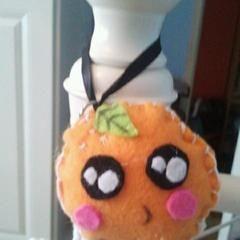 Smiling Orange From Felt