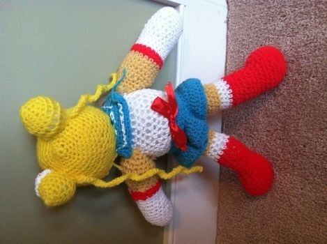 <3 .  Free tutorial with pictures on how to make a food plushie in 4 steps by beading, braiding, embellishing, needleworking, sewing, crocheting, and amigurumi with yarn, beads, and ribbon. Inspired by crafts, fun & games, and kids. How To posted by Khadija N. Difficulty: Simple. Cost: Cheap.